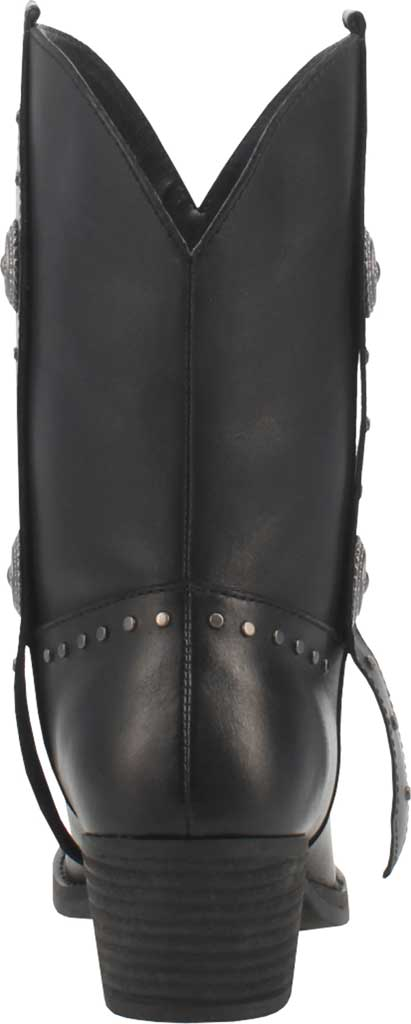 Women's Dingo True West Cowgirl Boot, Black Leather, large, image 4