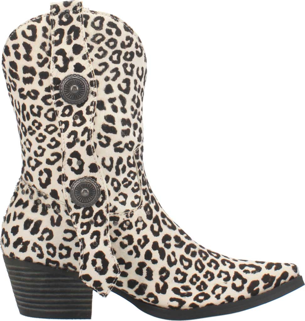 Women's Dingo True West Cowgirl Boot, Snow Leopard Leather, large, image 2