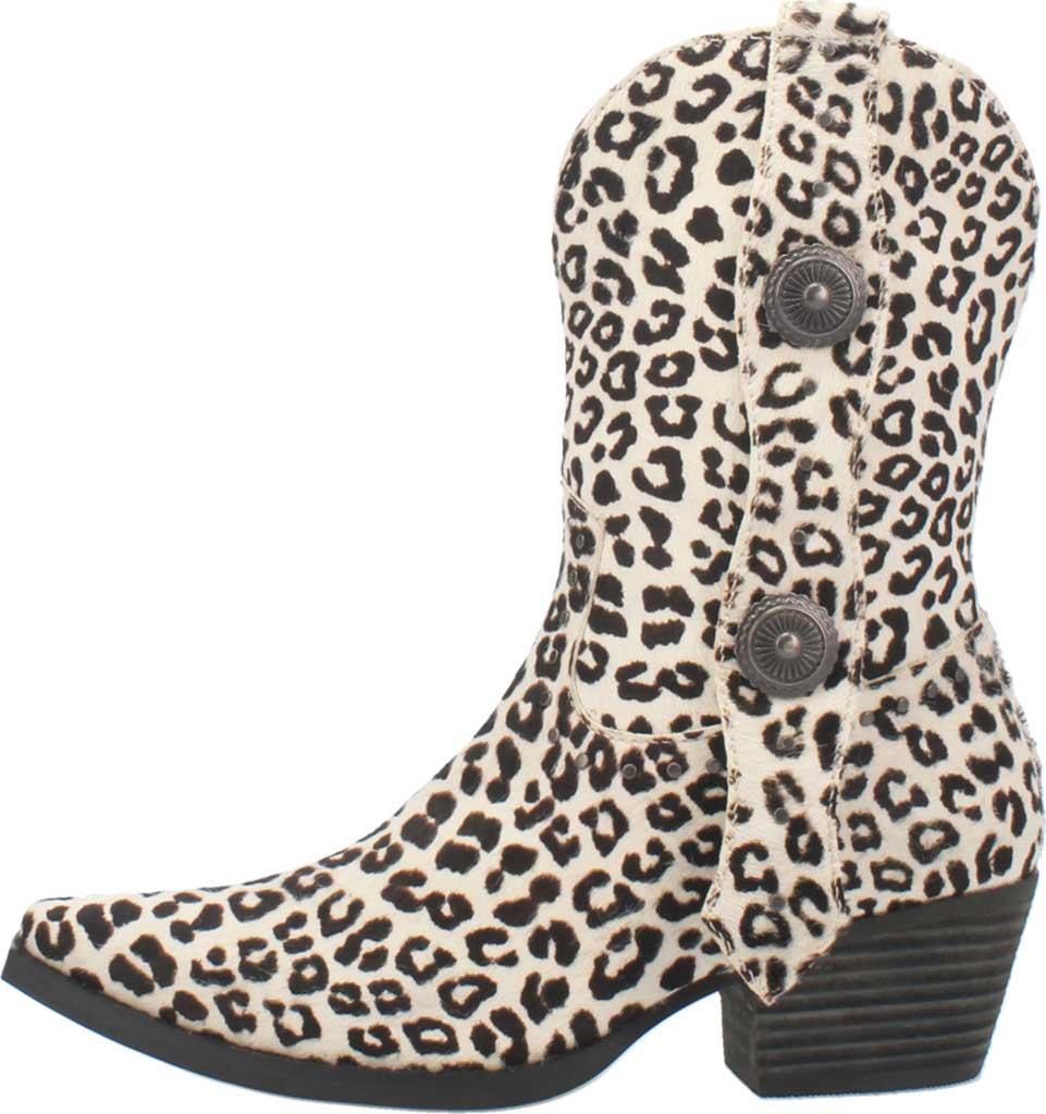 Women's Dingo True West Cowgirl Boot, Snow Leopard Leather, large, image 3