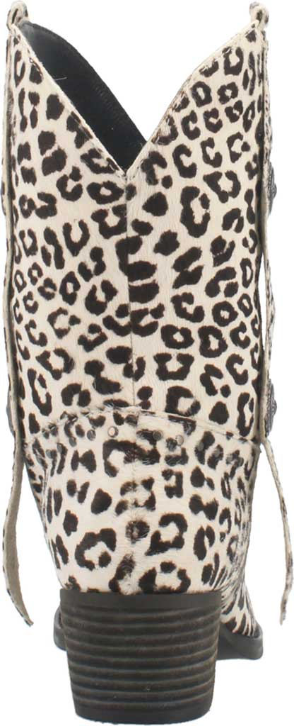 Women's Dingo True West Cowgirl Boot, Snow Leopard Leather, large, image 4