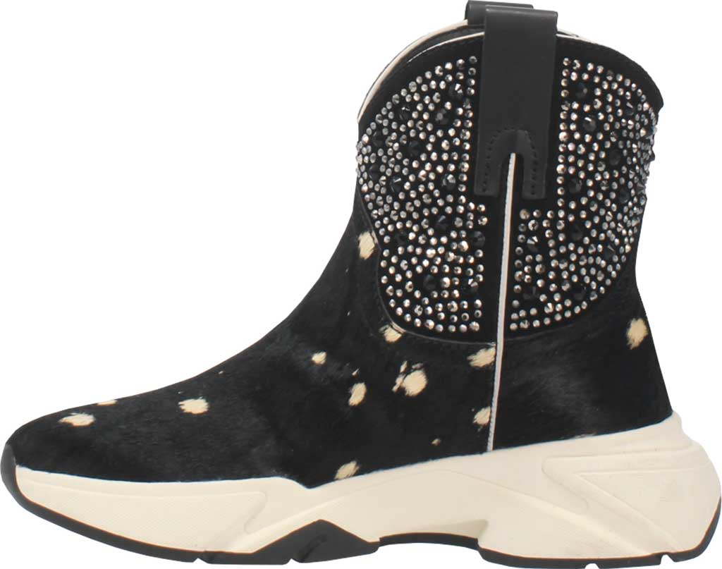 Women's Dingo The Force Bootie, Black Cow Hair/Leather, large, image 3