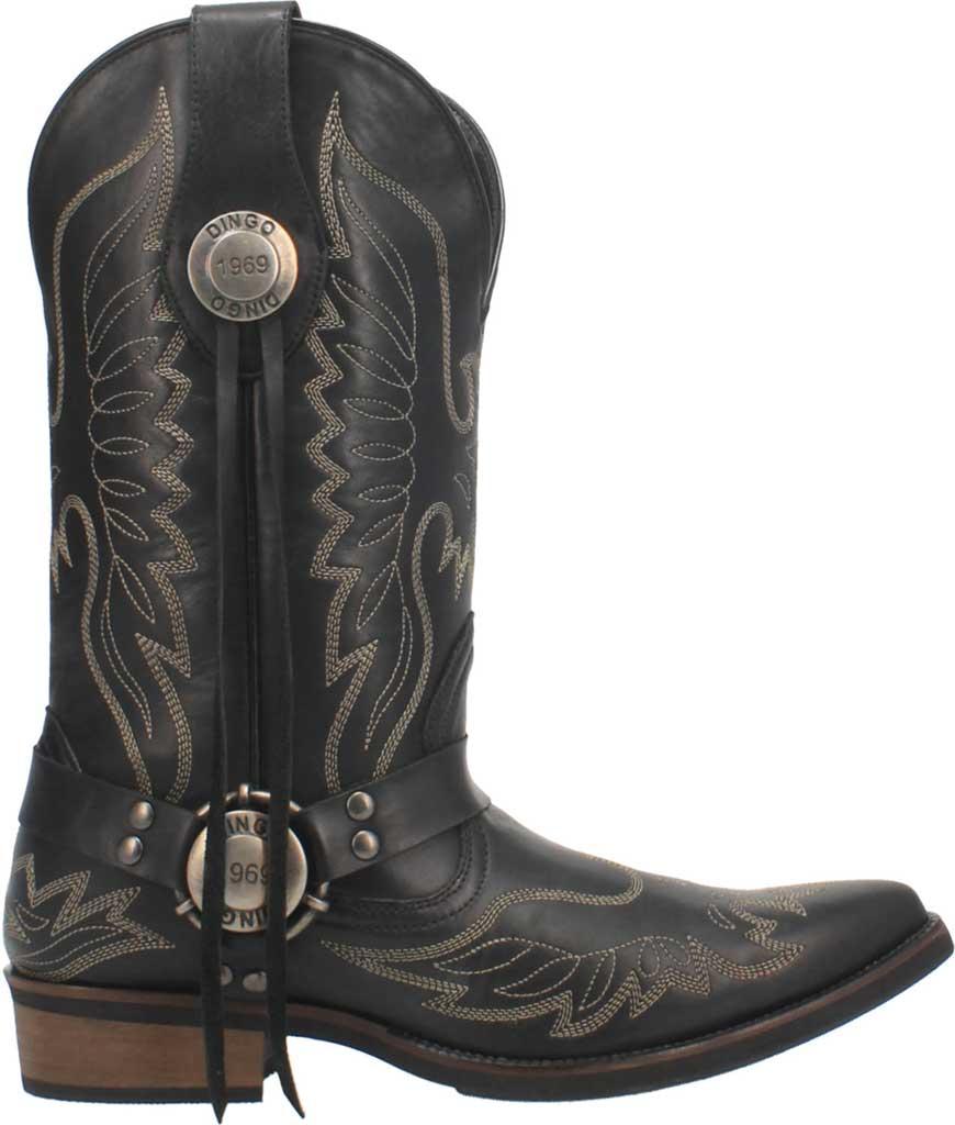Men's Dingo Screamin' Eagle Cowboy Boot, Black Leather, large, image 2