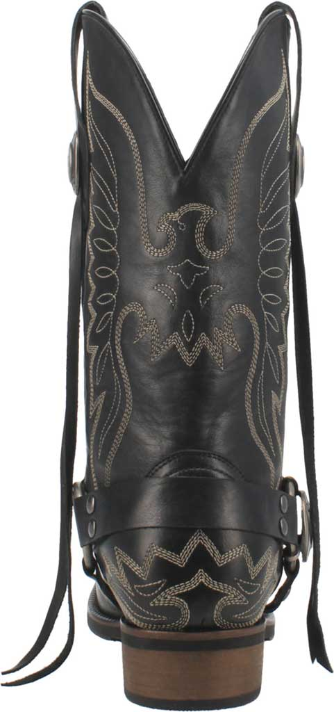 Men's Dingo Screamin' Eagle Cowboy Boot, Black Leather, large, image 4
