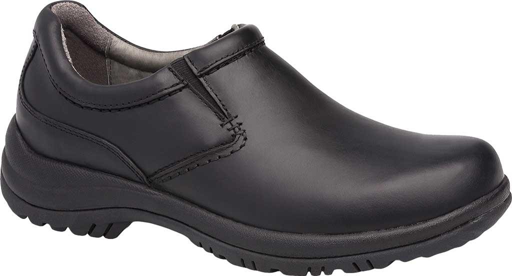Men's Dansko Wynn Slip On, Black Smooth, large, image 1