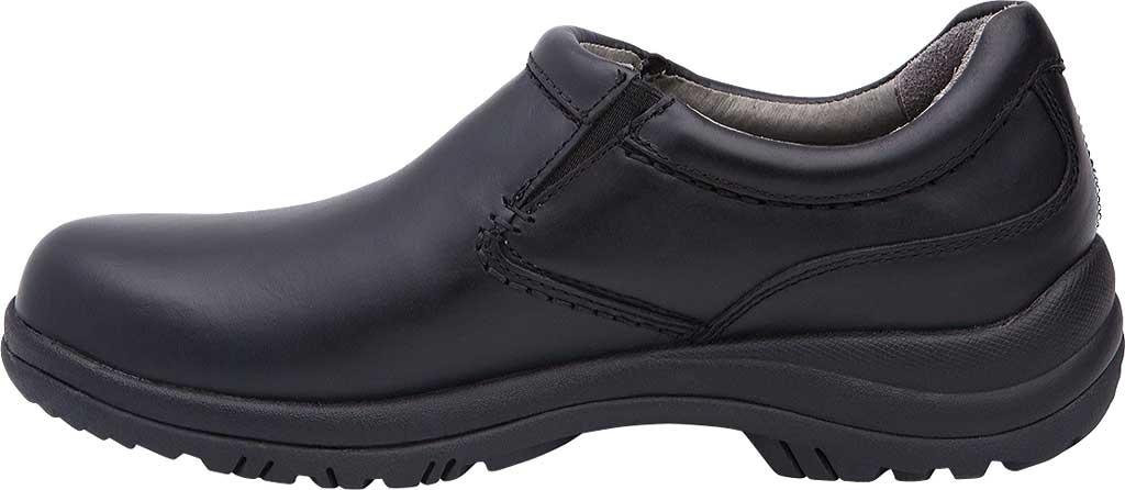 Men's Dansko Wynn Slip On, Black Smooth, large, image 2