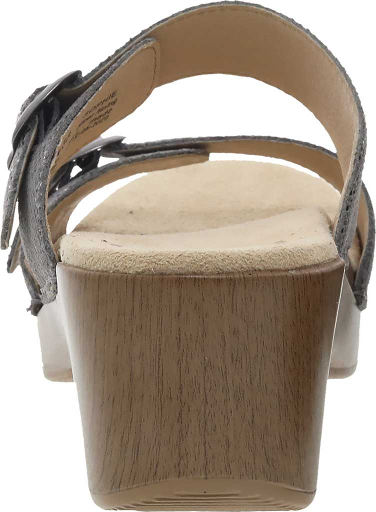 Women's Dansko Sophie Sandal, Graphite Snake Leather, large, image 3