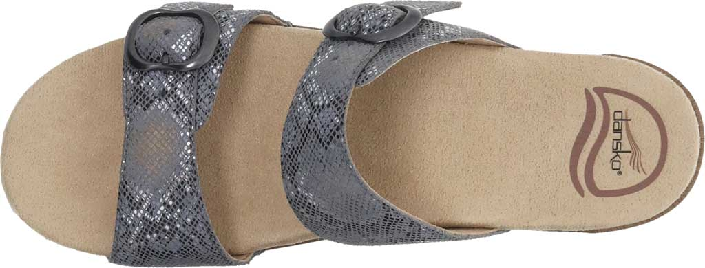 Women's Dansko Sophie Sandal, Graphite Snake Leather, large, image 4