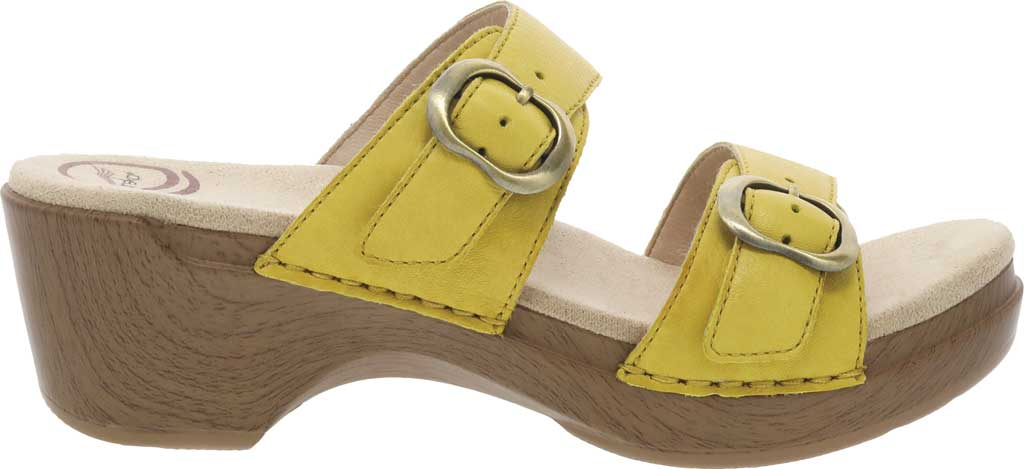 Women's Dansko Sophie Sandal, Yellow Burnished Milled Leather, large, image 2