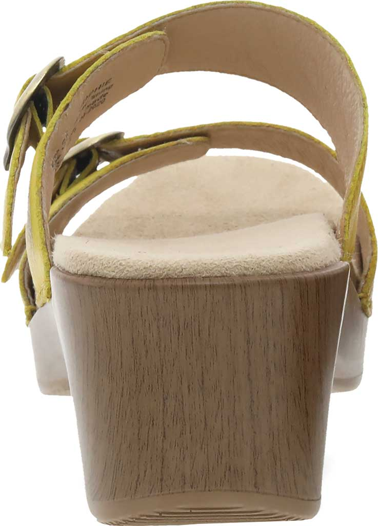 Women's Dansko Sophie Sandal, Yellow Burnished Milled Leather, large, image 3