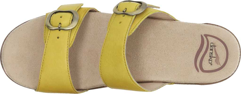 Women's Dansko Sophie Sandal, Yellow Burnished Milled Leather, large, image 4