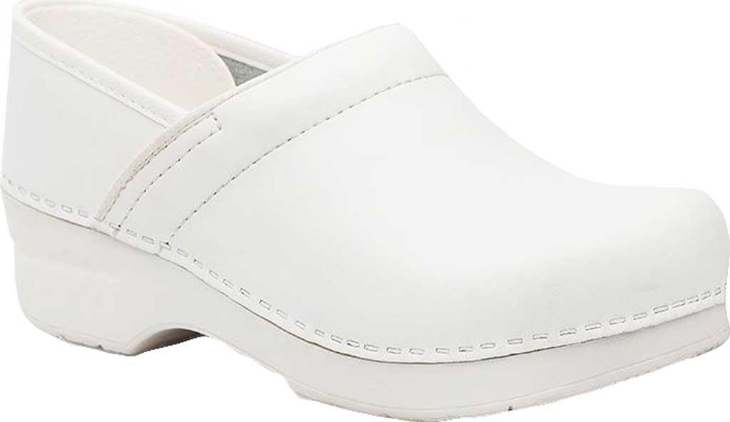 Women's Dansko Professional Clog, White Box Leather, large, image 1