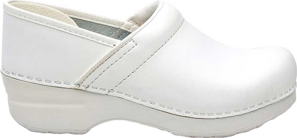 Women's Dansko Professional Clog, White Box Leather, large, image 2