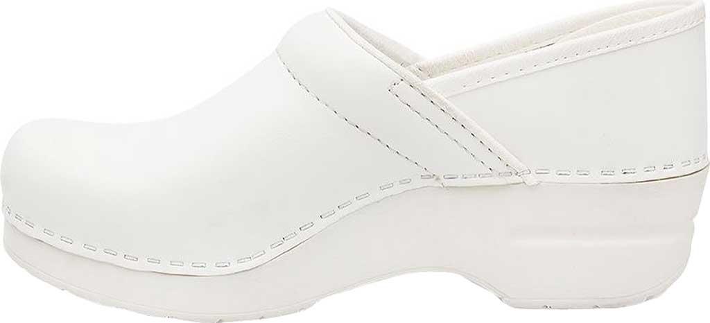 Women's Dansko Professional Clog, White Box Leather, large, image 3
