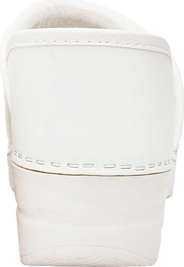 Women's Dansko Professional Clog, White Box Leather, large, image 4