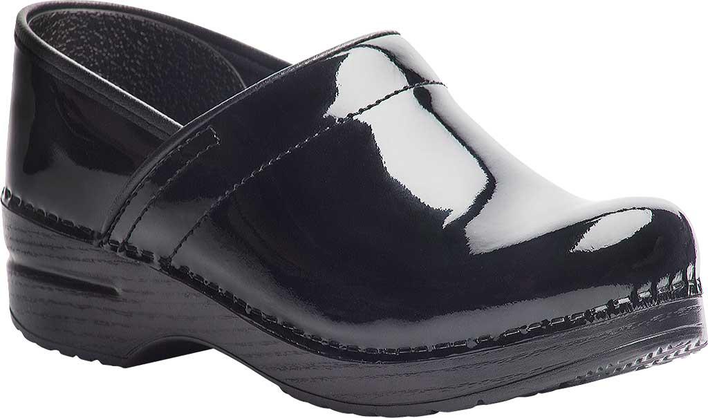 Women's Dansko Professional Clog, Black Patent Leather, large, image 1