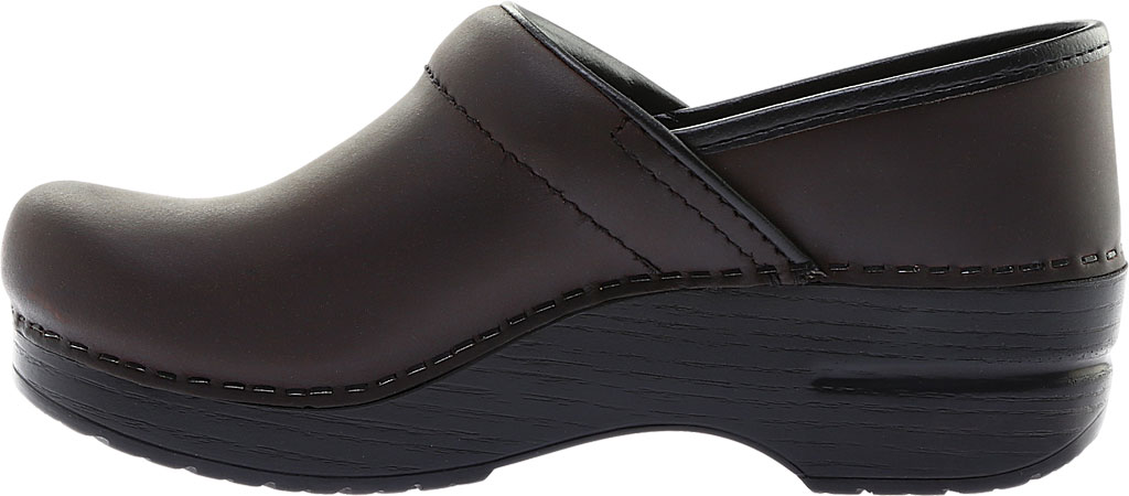 Women's Dansko Professional Clog, Antique Brown Oiled/Black, large, image 3