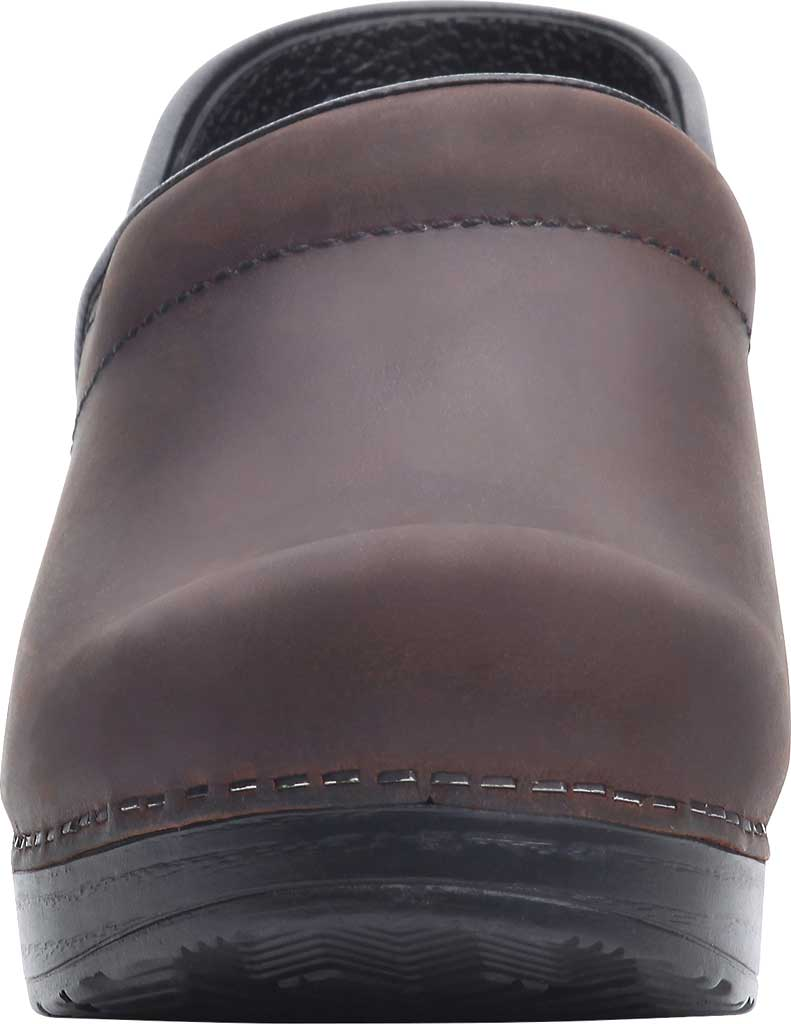 Women's Dansko Professional Clog, Antique Brown Oiled/Black, large, image 4