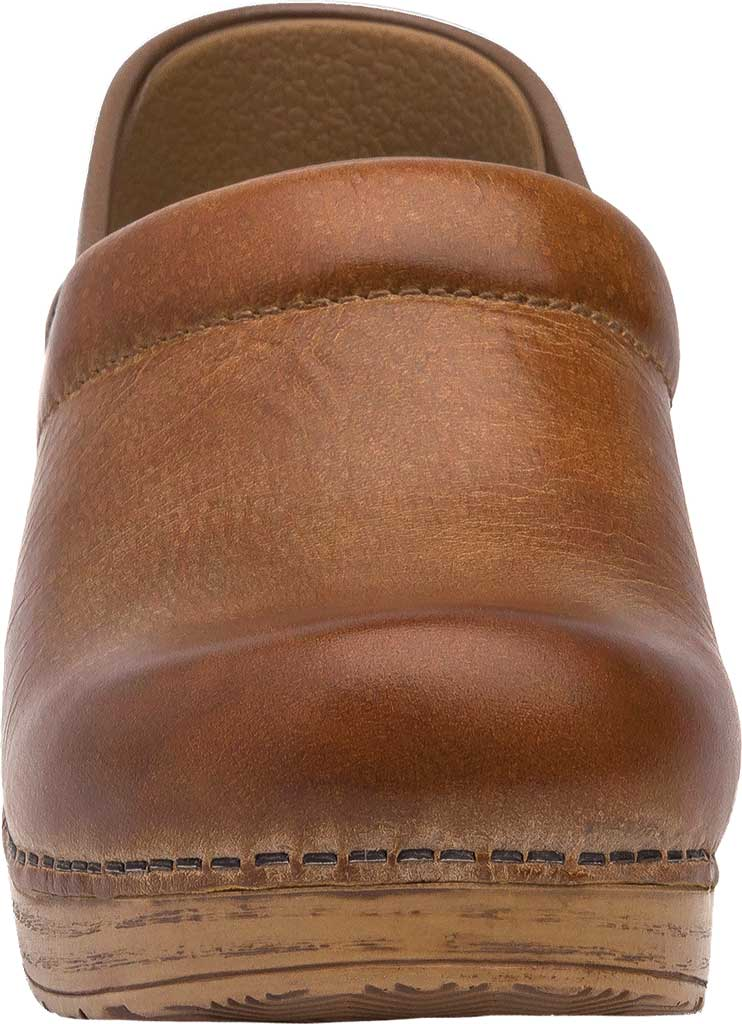 Women's Dansko Professional Clog, Honey Distressed Leather, large, image 3