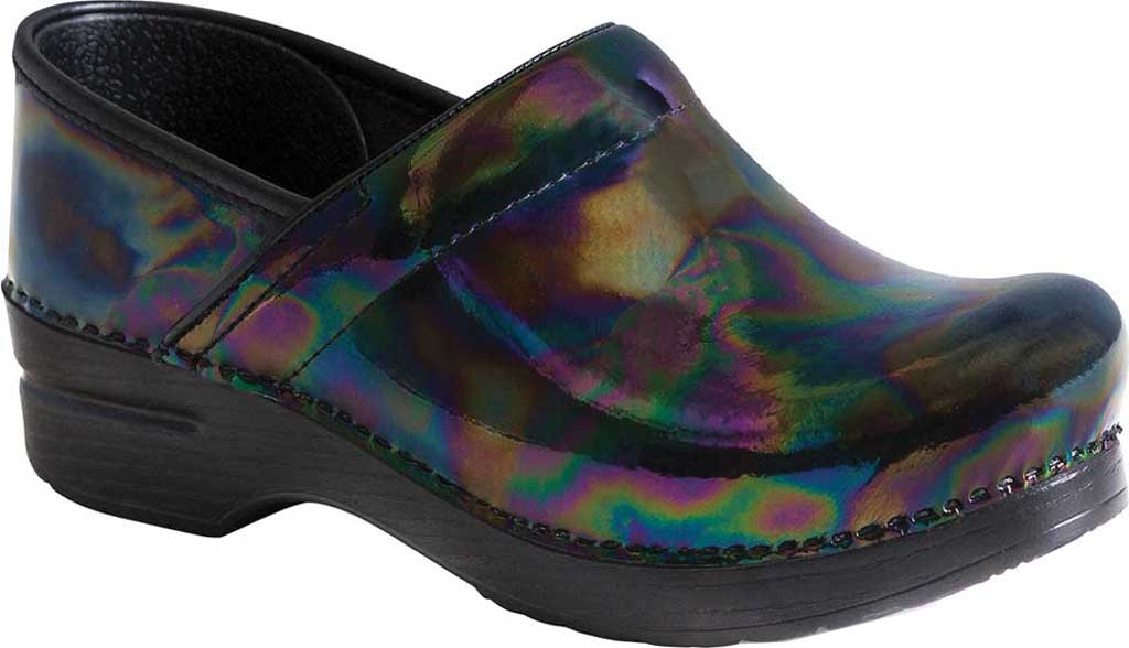 Women's Dansko Professional Clog, Petrol Patent Leather, large, image 1