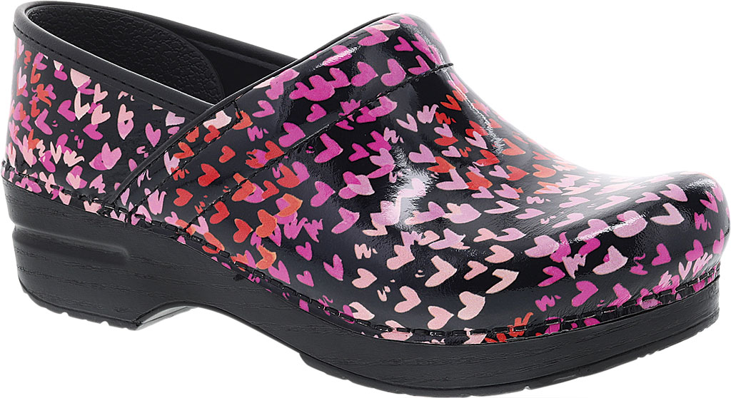 Women's Dansko Professional Clog, Tiny Hearts Patent, large, image 1