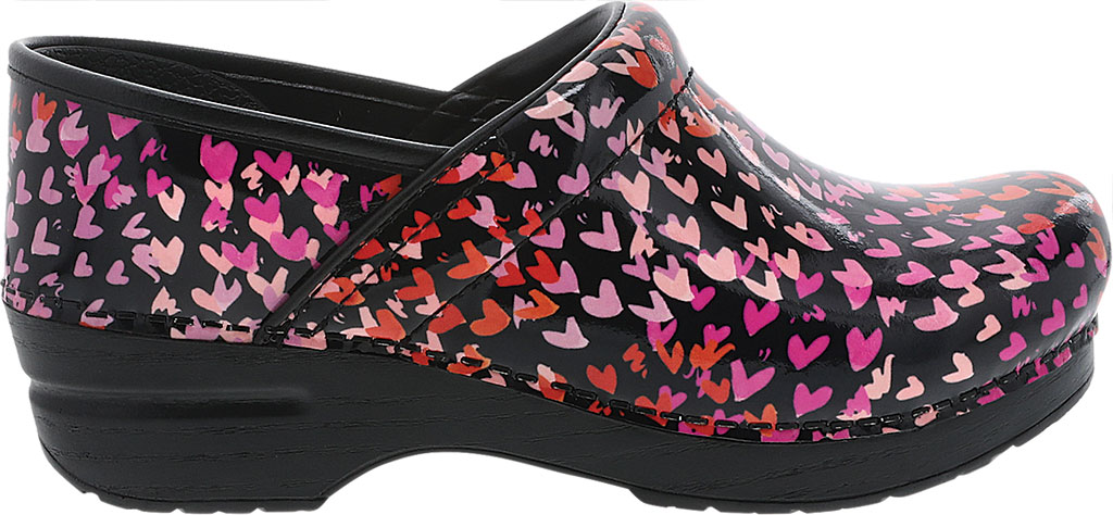 Women's Dansko Professional Clog, Tiny Hearts Patent, large, image 2