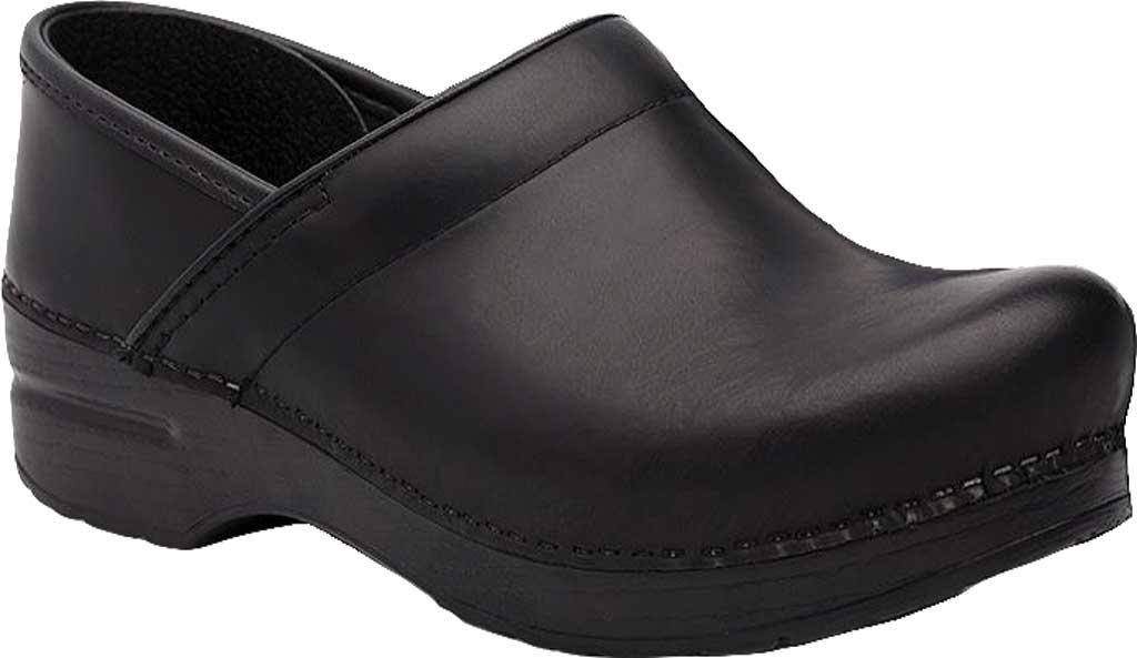 Men's Dansko Professional Clog, Black Cabrio Leather, large, image 1