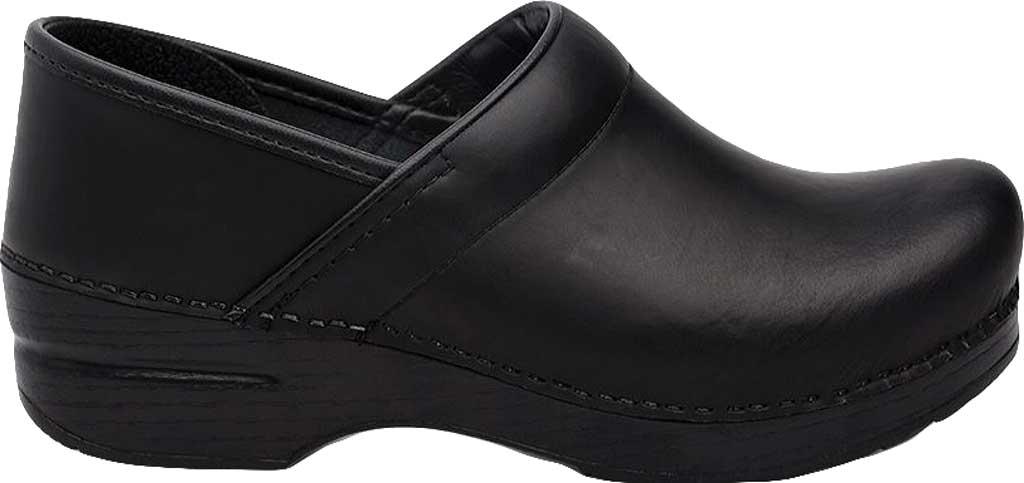 Men's Dansko Professional Clog, Black Cabrio Leather, large, image 2