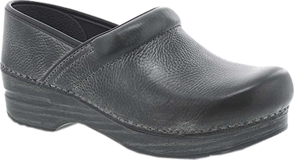 Men's Dansko Professional Clog, Charcoal Distressed Leather, large, image 1