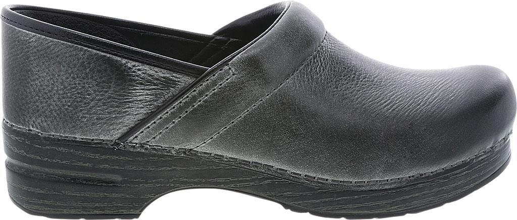 Men's Dansko Professional Clog, Charcoal Distressed Leather, large, image 2