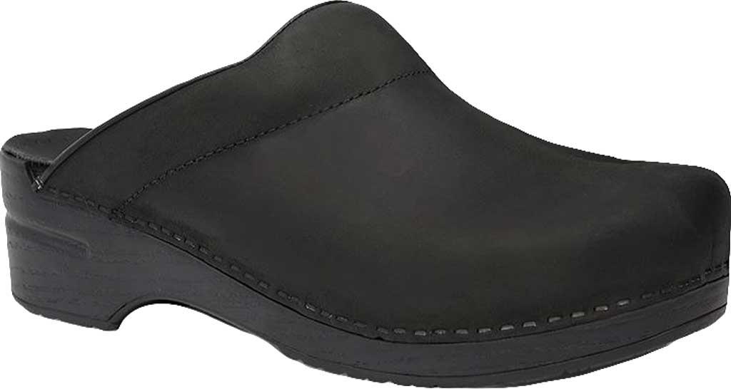 Men's Dansko Karl Clog, Black Oiled Leather, large, image 1