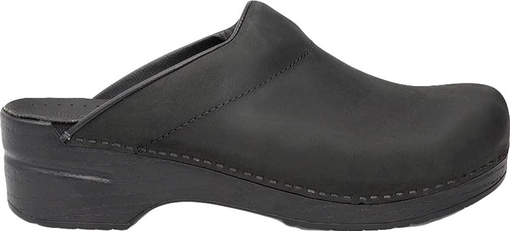 Men's Dansko Karl Clog, Black Box Leather, large, image 2