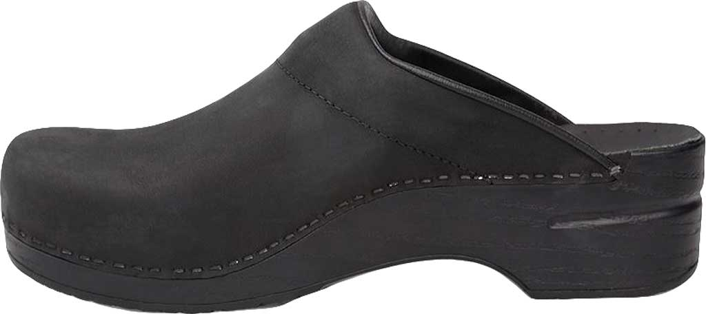 Men's Dansko Karl Clog, Black Box Leather, large, image 3