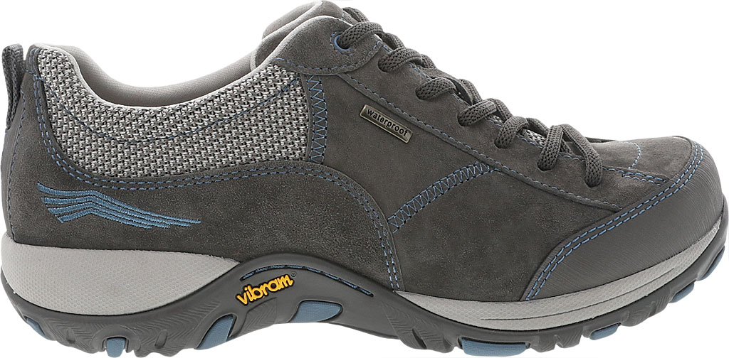Women's Dansko Paisley Walking Shoe, Grey/Blue Suede, large, image 2