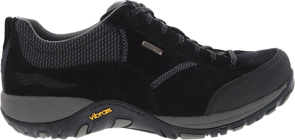 Women's Dansko Paisley Walking Shoe, Black/Black Waterproof Suede, large, image 1