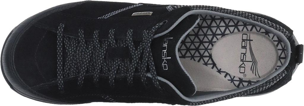 Women's Dansko Paisley Walking Shoe, Black/Black Waterproof Suede, large, image 2
