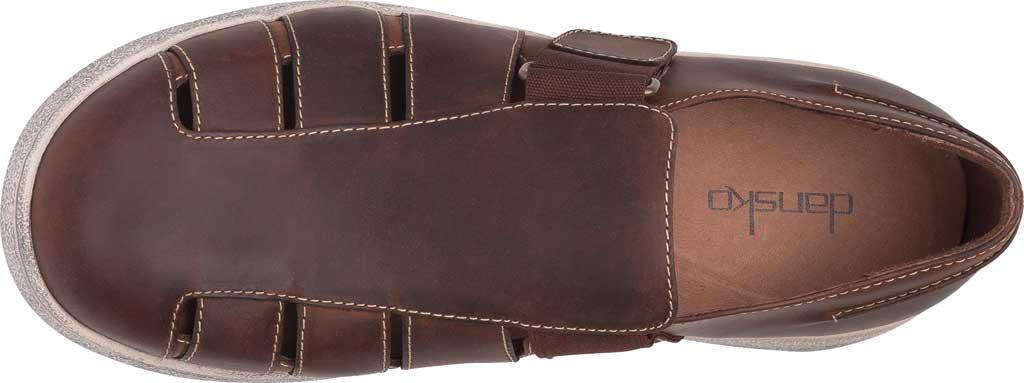 Men's Dansko Vince Fisherman Sandal, Brown Oiled Pull Up Leather, large, image 4