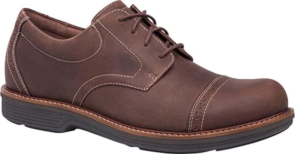Men's Dansko Justin Cap Toe Oxford, Brown Oiled Nubuck, large, image 1