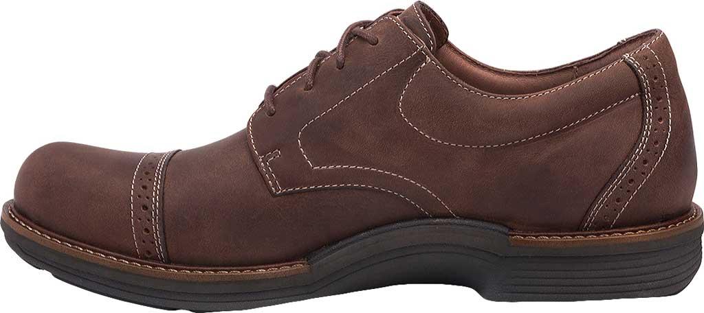 Men's Dansko Justin Cap Toe Oxford, Brown Oiled Nubuck, large, image 2