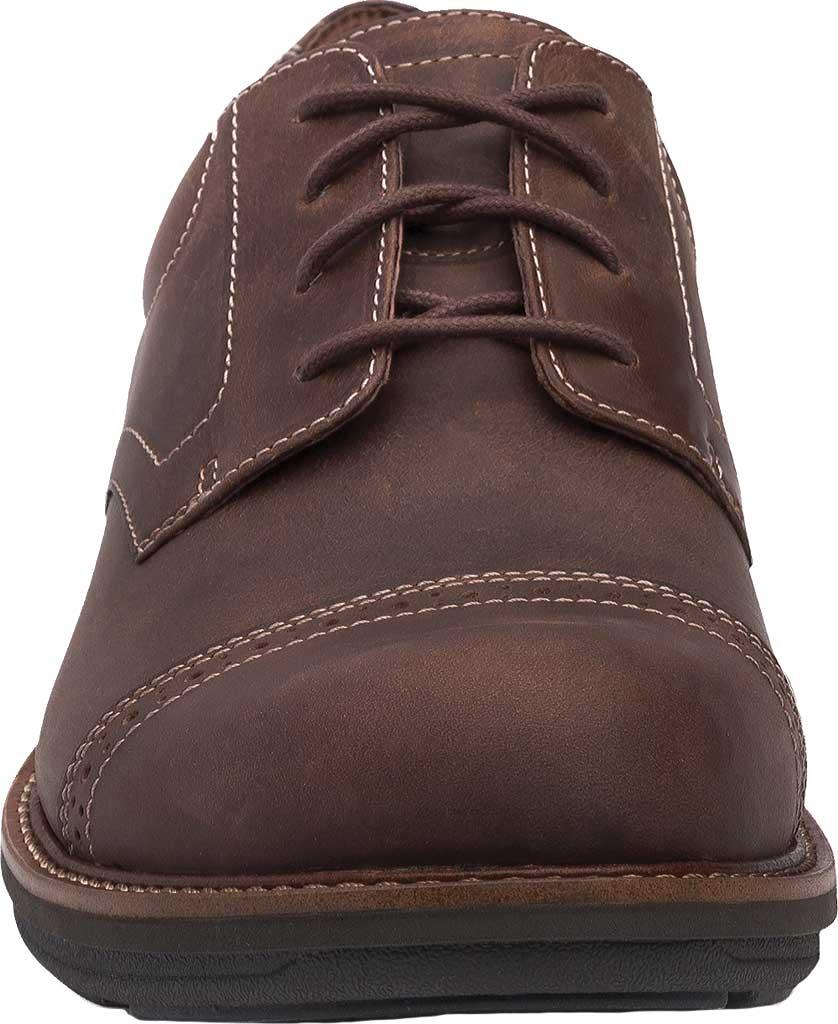 Men's Dansko Justin Cap Toe Oxford, Brown Oiled Nubuck, large, image 3