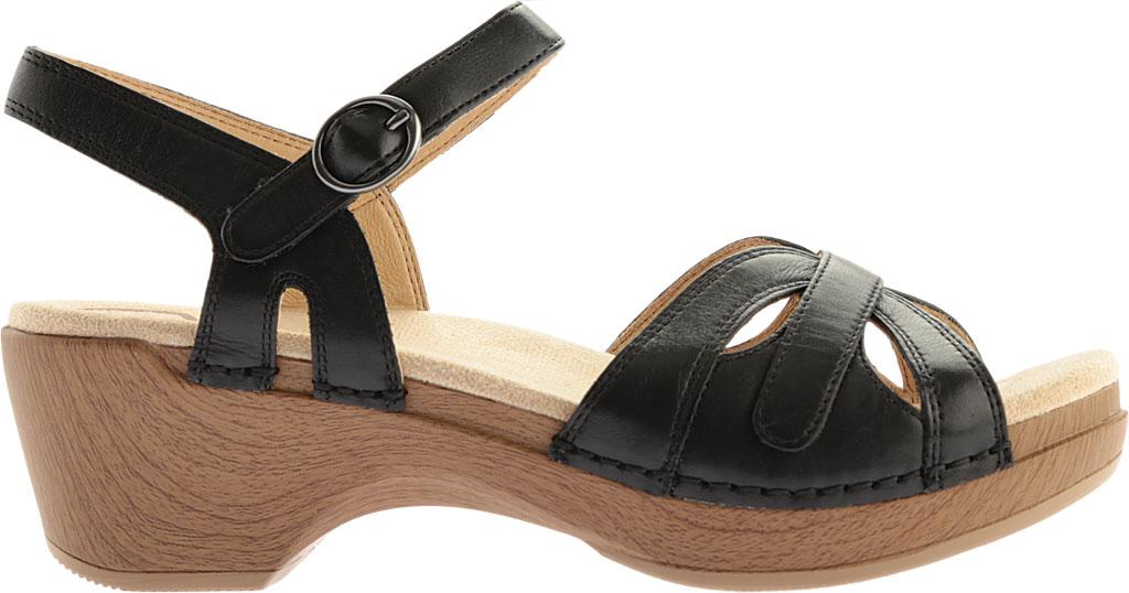 Women's Dansko Season Quarter Strap Sandal, Orange Burnished Calfskin, large, image 2