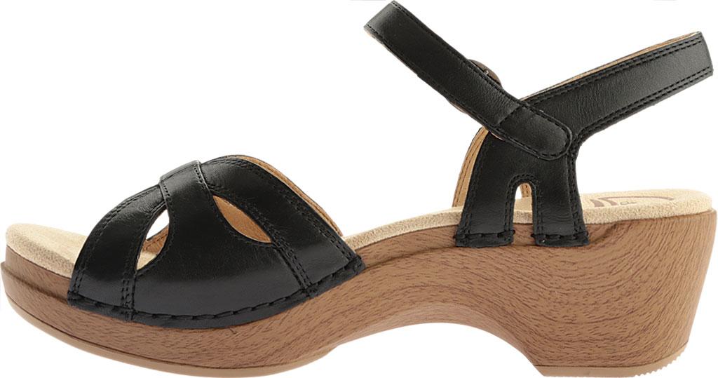 Women's Dansko Season Quarter Strap Sandal, Orange Burnished Calfskin, large, image 3