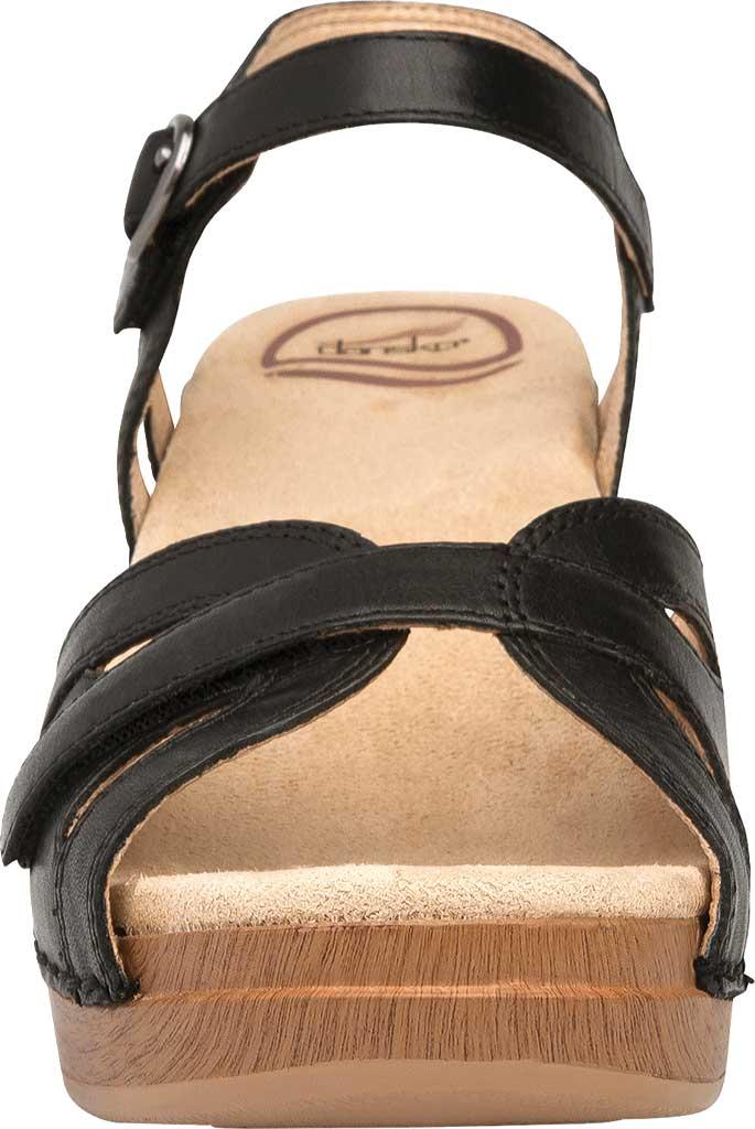 Women's Dansko Season Quarter Strap Sandal, Orange Burnished Calfskin, large, image 4