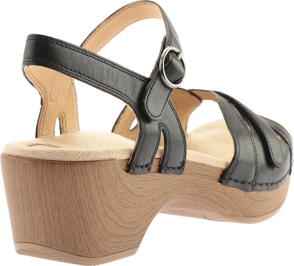 Women's Dansko Season Quarter Strap Sandal, Graphite Nappa, large, image 5