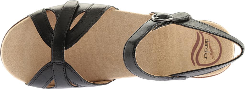 Women's Dansko Season Quarter Strap Sandal, Graphite Nappa, large, image 6