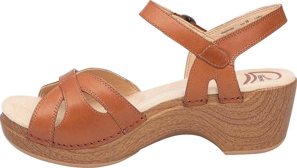 Women's Dansko Season Quarter Strap Sandal, Camel Full Grain Leather, large, image 2