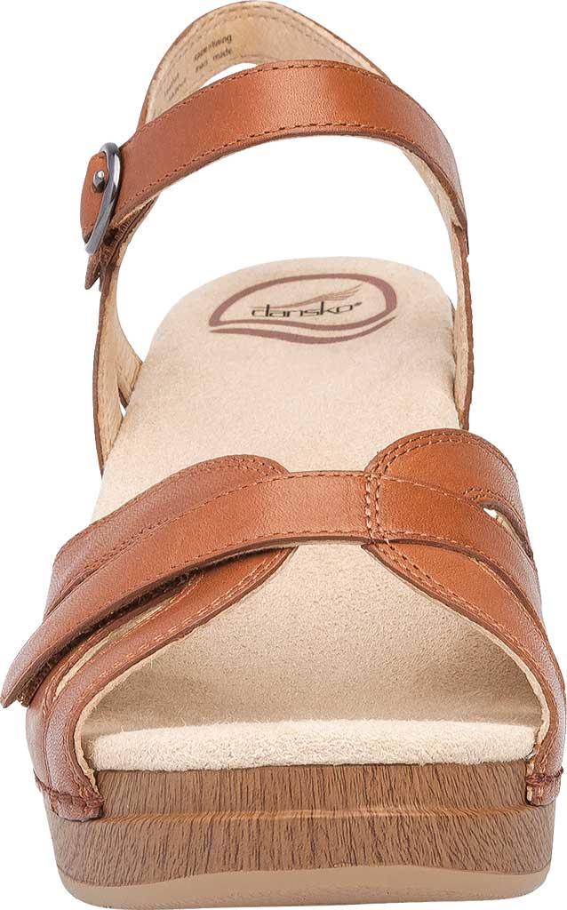 Women's Dansko Season Quarter Strap Sandal, Camel Full Grain Leather, large, image 3
