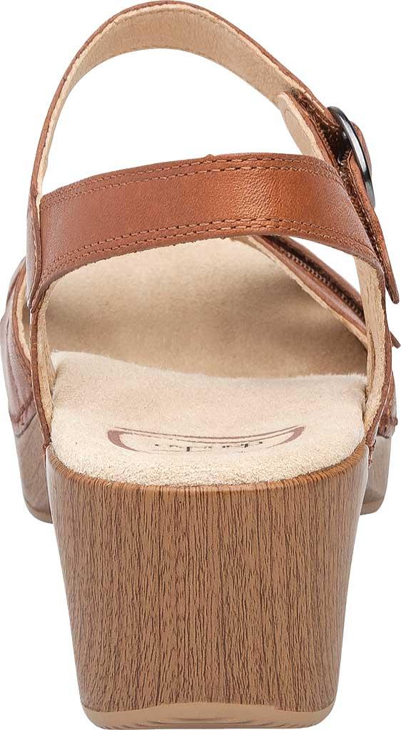 Women's Dansko Season Quarter Strap Sandal, Camel Full Grain Leather, large, image 4