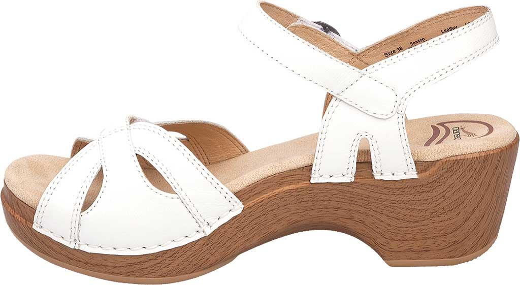 Women's Dansko Season Quarter Strap Sandal, White Full Grain Leather, large, image 2