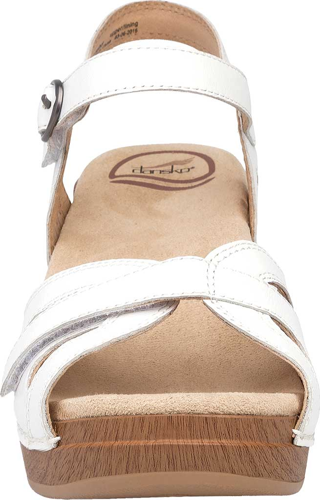 Women's Dansko Season Quarter Strap Sandal, White Full Grain Leather, large, image 3