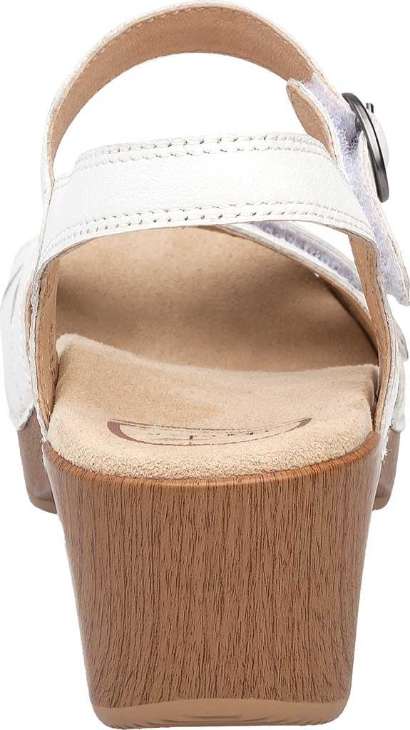 Women's Dansko Season Quarter Strap Sandal, White Full Grain Leather, large, image 4